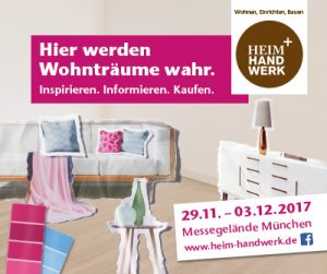 heim und handwerk in m nchen 2017 vom 29 nov 3 dez 2017 schreinerei heumeier. Black Bedroom Furniture Sets. Home Design Ideas